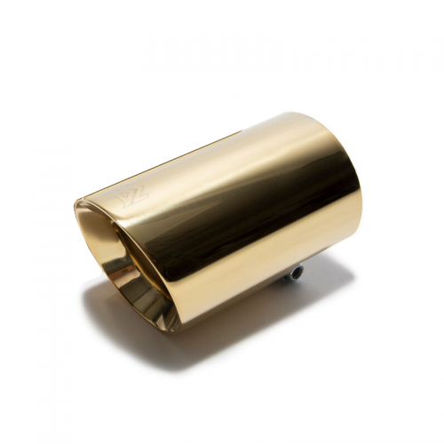 Armytrix – Stainless Steel Single gold spare replacement tip 1×89 mm for VW GOLF MK7 20 TSI GTI