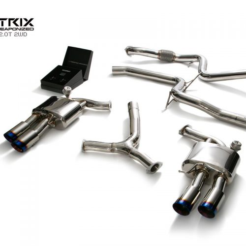 Armytrix – Stainless Steel Front pipe + Mid pipe + Y-pipe+ Valvetronic mufflers + Wireless remote control kit for AUDI A5 B9 20 TFSI COUPE