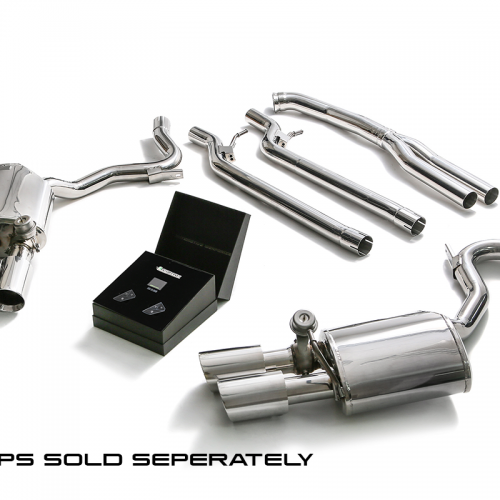 Armytrix – Stainless Steel De-catted Front pipe + Y-pipe + mid-pipe (L and R) + Valvetronic Muffler (L and R) + Wireless Remote Control Kit for PORSCHE PANAMERA 971 30L